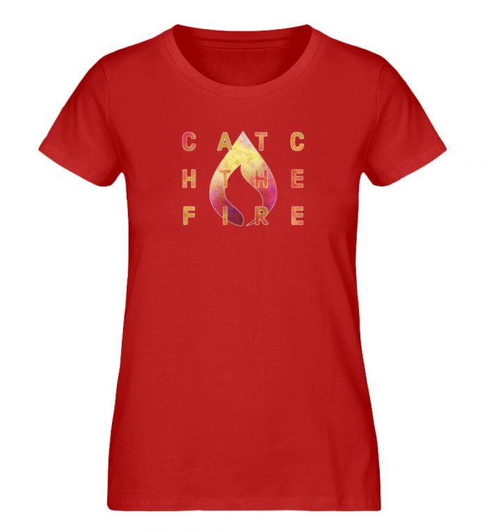 catch the fire - Damen Premium Organic Shirt-4