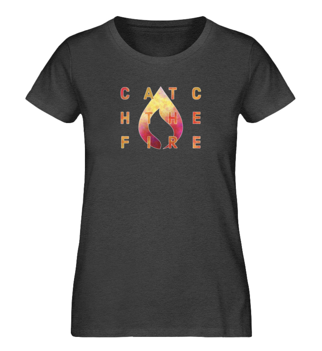 catch the fire - Damen Premium Organic Shirt-6881